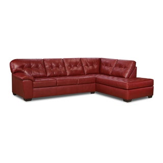 Simmons Upholstery Soho Cardinal Red Sectional