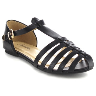 Beston Ia25 Caged Flat Sandals