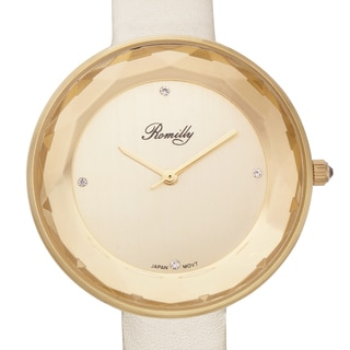 Jean Romilly Women's Sansa White Leather Watch