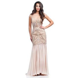 Terani Couture Cap Sleeve Formal Pageant Gown