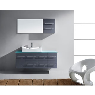 Virtu USA Ceanna 55-inch Grey Single Bathroom Vanity Cabinet Set