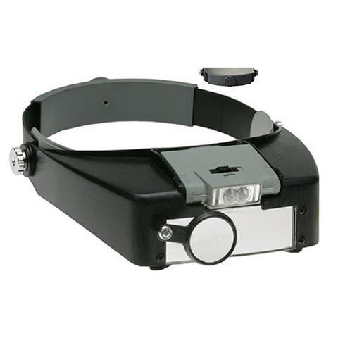 Jeweler's Lighted High-Power Magnifier Visor - 1.5X to 10X