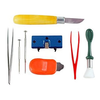 8pc Watch Battery Replacement Tool Kit