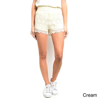 Shop the Trends Women's Fully Lined Mini Crochet Lace Shorts (More options available)