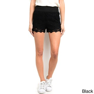 Shop the Trends Women's Fully Lined Mini Crochet Lace Shorts (3 options available)