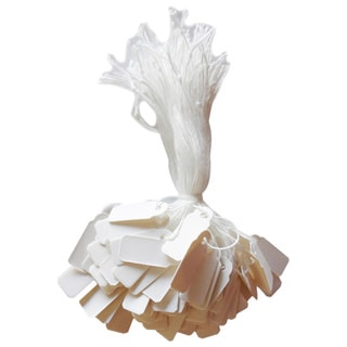 PAPER STRING TAGS WHITE 8mmX20mm