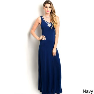 Shop the Trends Women's Sleeveless Embellished Neck Gown (More options available)