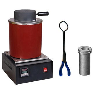 Gold/Silver Melting Digital Furnace Oven Kiln with Graphite Crucible & Tongs