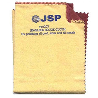"""Jewelry Polishing Cloth 12""""x12"""" Double Side Jeweler Silver Gold Rouge"""