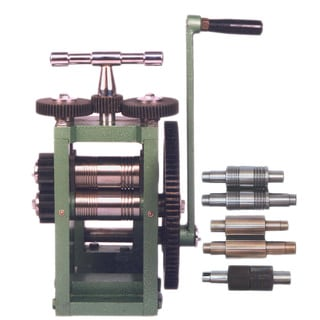 "3"" (80mm) ROLLING MILL with 5 rollers; Sheet Metal Wire Flat Pattern"