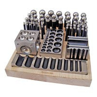 41-Piece Metal Forming Dapping Doming Punch and Block Set 2.3mm to 25.0mm