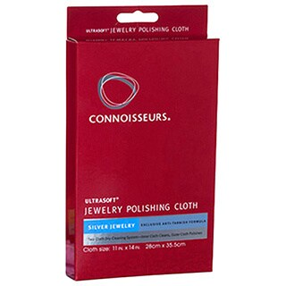 Connoisseurs Silver Jewelry Polishing Cloths 2Pcs