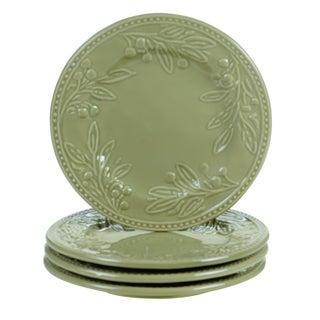 Certified International Bianca Green 8.75-inch Dessert Plates (Set of 4)