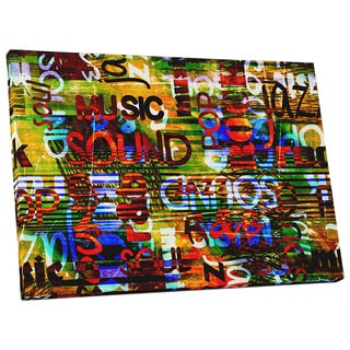 Pop Art 'Music Genres' Gallery Wrapped Canvas Wall Art