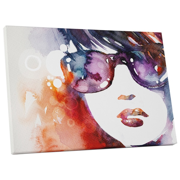 Pop Art 'Woman with Shades' Gallery Wrapped Canvas Wall Art