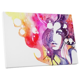 Pop Art 'Woman and Her Hair' Gallery Wrapped Canvas Wall Art