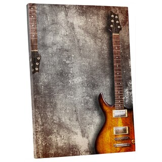 Pop Art 'Guitar' Gallery Wrapped Canvas Wall Art