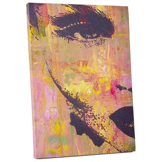 Pop Art 'Right Side of Face Zoom' Gallery Wrapped Canvas Wall Art