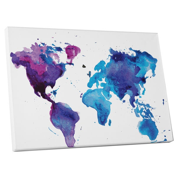 Pop Art 'The World in Water Colors' Gallery Wrapped Canvas Wall Art
