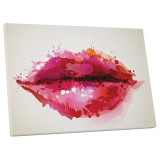 Pop Art 'Paint Drop Lips' Gallery Wrapped Canvas Wall Art