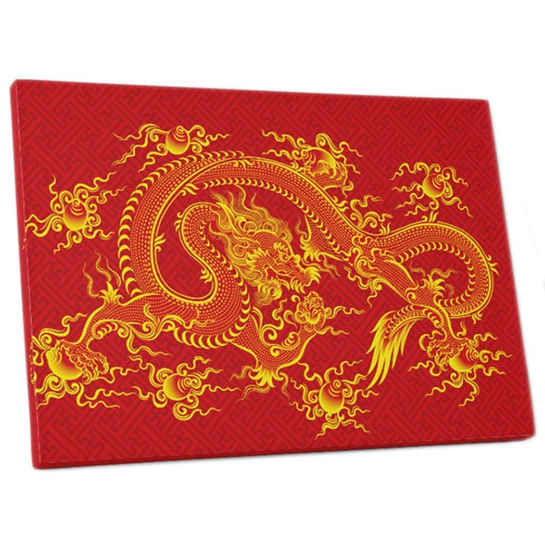 Shop Pop Art \'Chinese Dragon\' Gallery Wrapped Canvas Wall Art - On ...