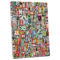 Pop Art 'Newspaper Clippings' Gallery Wrapped Canvas Wall Art