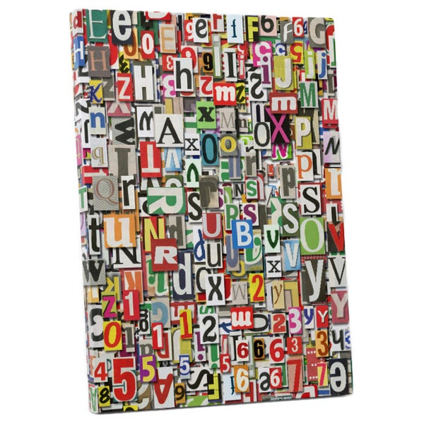 Pop art 39 newspaper clippings 39 gallery wrapped canvas wall for Newspaper canvas art