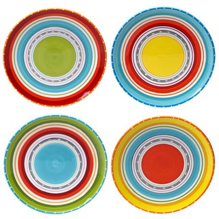 Certified International Mariachi 10.75-inch Dinner Plates (Set of 4)