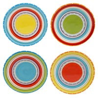 Certified International Mariachi 6-inch Canape Plates (Set of 4) Assorted Designs