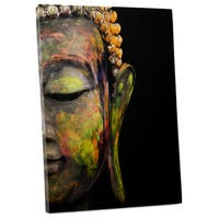 Pop Art 'Painted Budda' Gallery Wrapped Canvas Wall Art