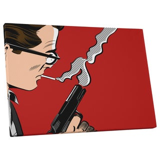Pop Art 'Man with Gun' Gallery Wrapped Canvas Wall Art