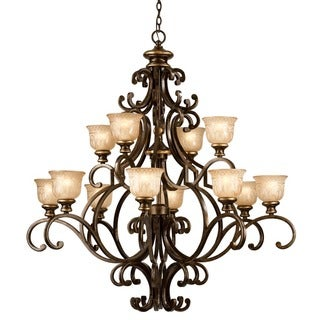Crystorama Norwalk Collection 12-light Bronze Umber Chandelier