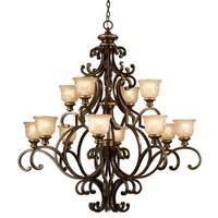 Crystorama Norwalk Collection 12-light Bronze Umber Chandelier