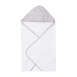 Trend lab Grey and White Circles Hooded Towel