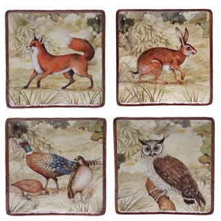 Certified International Rustic Nature 8.25-inch Salad/Dessert Plates (Set of 4) Assorted Designs
