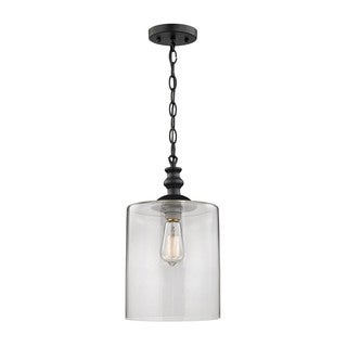 Elk Bergen 1-light Pendant in Oil Rubbed Bronze and Clear Glass