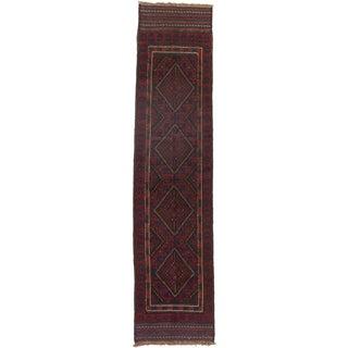 Ecarpetgallery Hand-knotted Tajik Caucasian Red Wool Runner Rug (1'10 x 8'2)