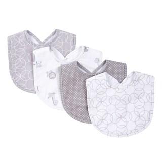 Trend Lab Grey and White Circles 4 Pack Bib Set