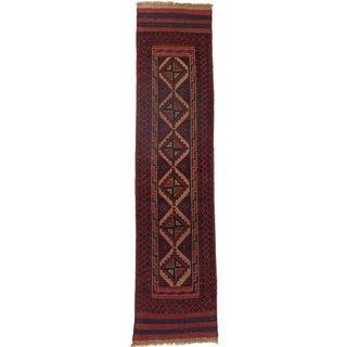 Ecarpetgallery Hand-knotted Tajik Caucasian Red Wool Runner Rug (1'10 x 8')
