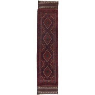 Ecarpetgallery Hand-knotted Tajik Caucasian Red Wool Runner Rug (1'11 x 8'4)