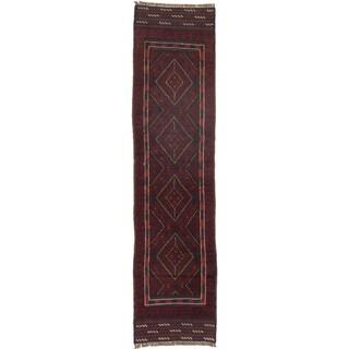 Ecarpetgallery Hand-knotted Tajik Caucasian Red Wool Runner Rug (1'10 x 7'8)