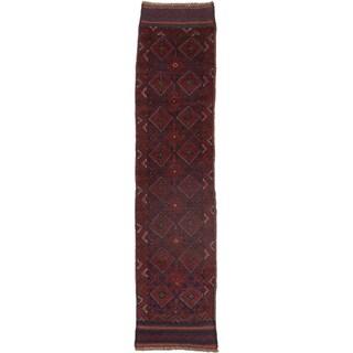 Ecarpetgallery Hand-knotted Tajik Caucasian Red Wool Runner Rug (1'11 x 8'3)