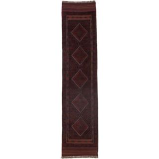 Ecarpetgallery Hand-knotted Tajik Caucasian Blue Red Wool Runner Rug (1'11 x 8'4)