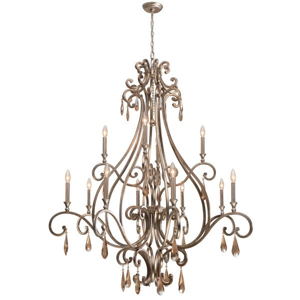Crystorama Shelby Collection 12 light Distressed Twilight
