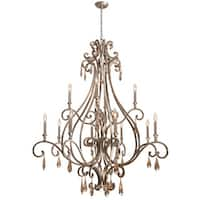 Crystorama Shelby Collection 12-light Distressed Twilight Chandelier