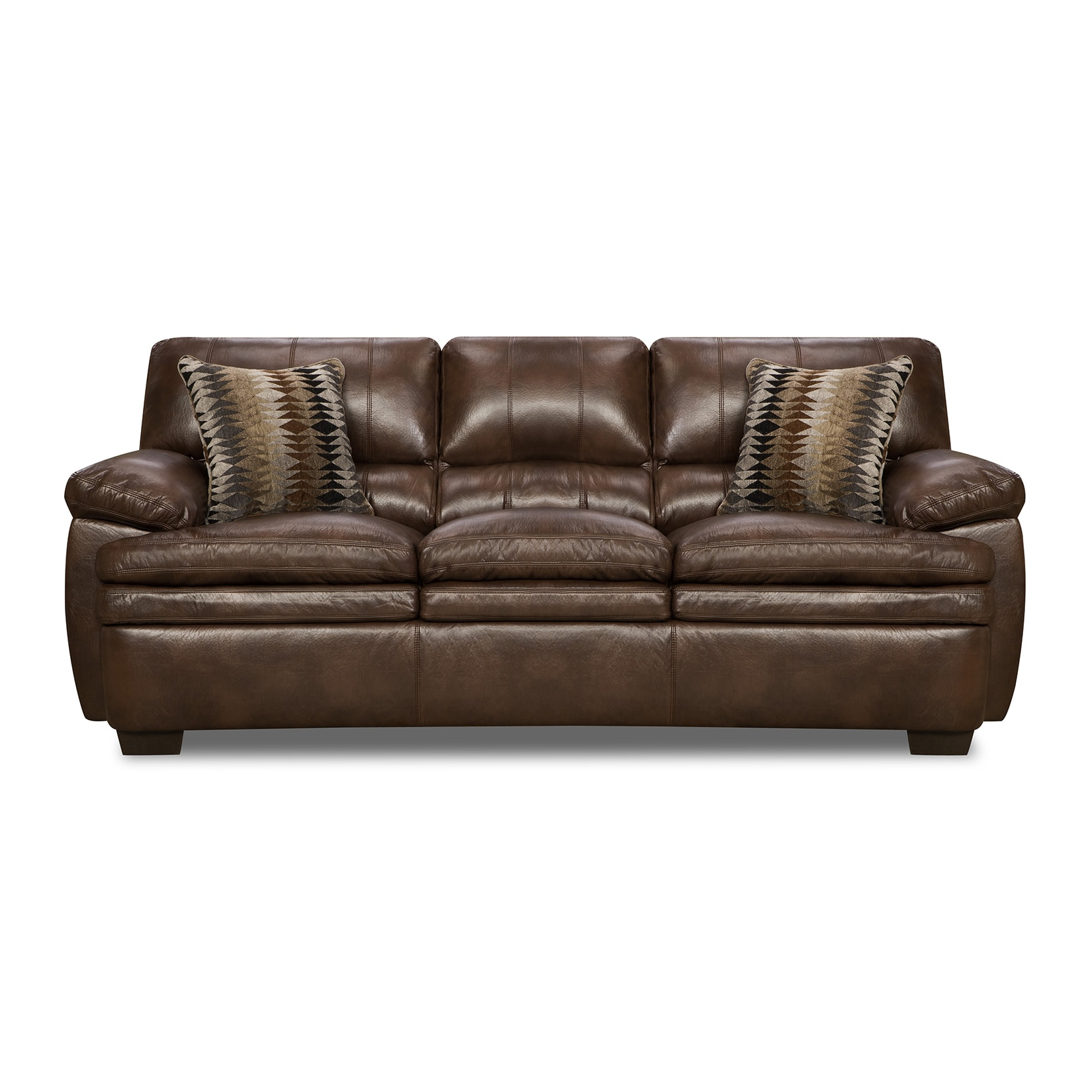 Simmons Upholstery Editor Brown Bonded Leather Sofa (Brown)