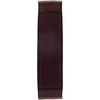 Ecarpetgallery Hand-knotted Tajik Caucasian Red Blue Wool Runner Rug (2'1 x 8')