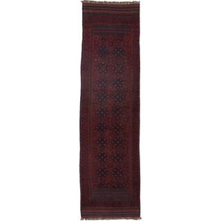 Ecarpetgallery Hand-knotted Tajik Caucasian Red Blue Wool Runner Rug (2'2 x 7'11)