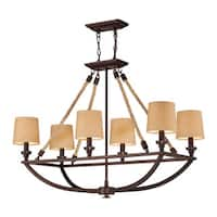 Elk Natural Rope 6-light Chandelier in Aged Bronze