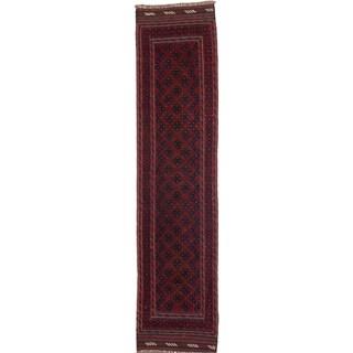 Ecarpetgallery Hand-knotted Tajik Caucasian Red Wool Runner Rug (1'11 x 8'2)